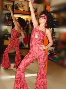 Disfraces Todo Disfraz - Decada 70 Vestido Rojo