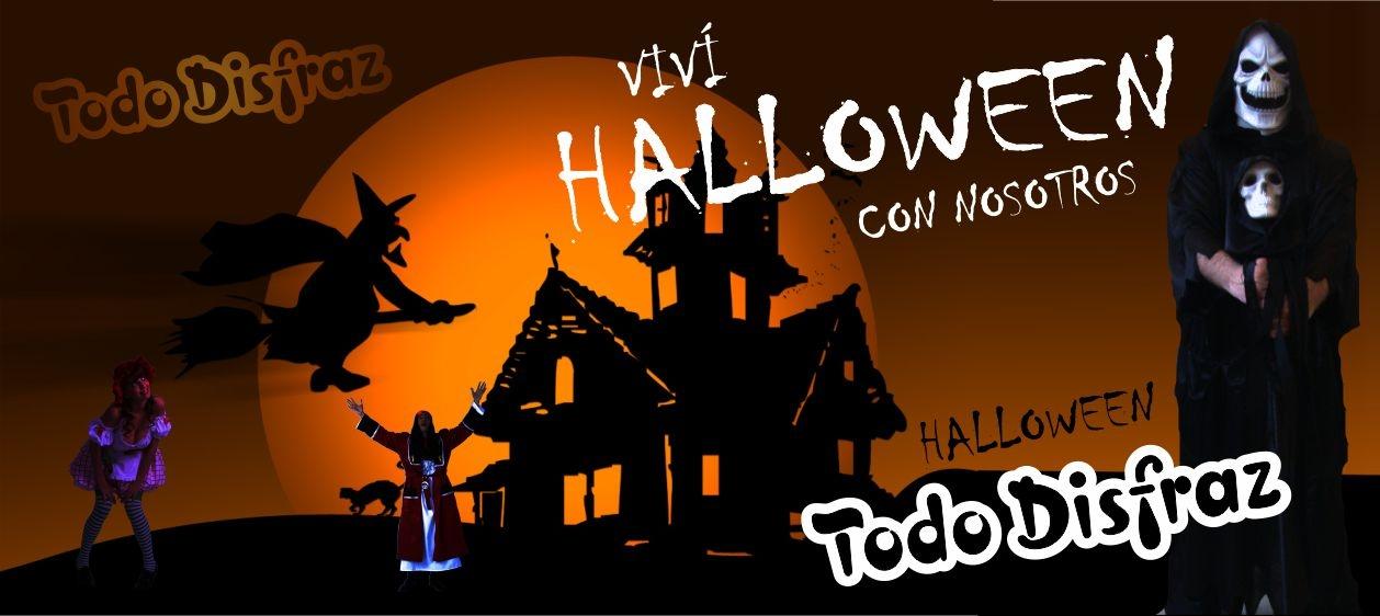 """De tradición celta, Halloween se originó en Irlanda y Escocia.  El 31 de octubre marcaba el fin del verano y la víspera del año nuevo y, en esta ocasión, se honraba a los muertos y ahuyentaba a los espíritus maléficos con antorchas encendidas.  Durante el siglo XIX, el rito emigró a los Estados Unidos junto a los colonos irlandeses y, con el tiempo, fue reintroducido a Europa a través de películas alusivas.  Finalmente se fue transformando en una fiesta para los más chicos quienes, disfrazados  de  brujas horrorosas, fantasmas polvorientos y monstruos sangrientos, piden golosinas a los vecinos, de puerta en puerta, a cambio de no hacerles ninguna travesura: """"Trick or treat, smell my feet or give me something good to eat!"""".   La fiesta de Halloween fue adoptada por distintos países, reinterpretándose y adaptándose a cada cultura.   Halloween está de moda. Y se podrá decir que la adopción de cualquier rito ancestral o foráneo constituye un hecho trivial, sin un verdadero significado para el común de la gente.  Pero lo fundamental es la fiesta y no hay duda de que ésta brinda un beneficioso aporte a las personas.  Salvo para algunos sectores de la sociedad, Halloween es un pretexto para festejar y una oportunidad para transformarse a través de un disfraz.  El disfraz nos posibilita cambiar temporalmente de personalidad, identificarnos con un héroe, el personaje favorito o un modelo de belleza al que querríamos parecernos. Además de vivir momentáneamente un mundo imaginario, esta metamorfosis facilita la comunicación entre las personas y permite escapar de lo cotidiano para tomar un respiro.  Y dejando de lado los aspectos sociológicos, la fiesta empieza en la casa de disfraces… al menos es lo que sucede en Todo Disfraz. El negocio de alquiler de disfraces es un lugar especial, tiene algo de magia, produce una especie de fascinación tanto en los chicos como en los adultos.  Los más chicos están acostumbrados a disfrazarse  por el hecho de participar en las celebraciones"""